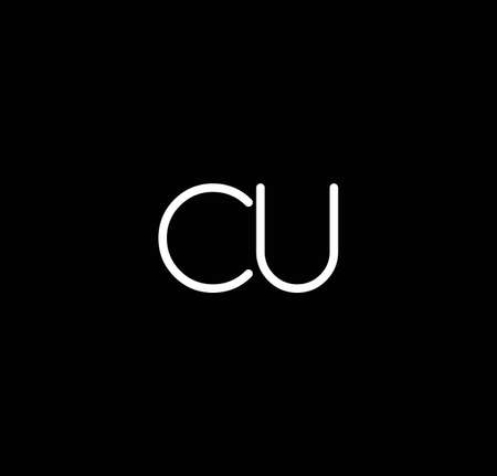 Letter CU alphabet  design vector. The initials of the letter C and U  design in a minimal style are suitable for an abbreviated name .