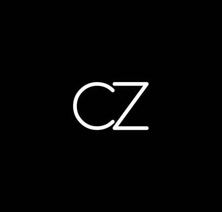 Letter CZ alphabet  design vector. The initials of the letter C and Z  design in a minimal style are suitable for an abbreviated name . Illusztráció