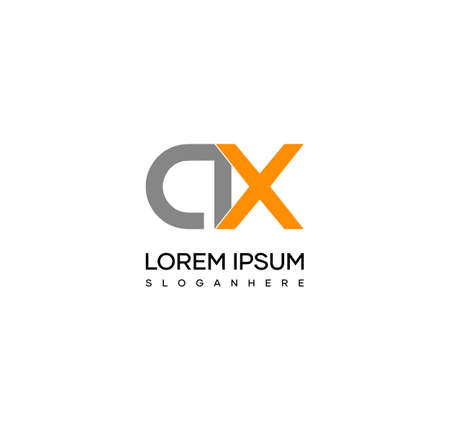 Letter AX alphabet logo design vector. The initials of the letter A and X logo design in a minimal style are suitable for an abbreviated name logo. Illusztráció
