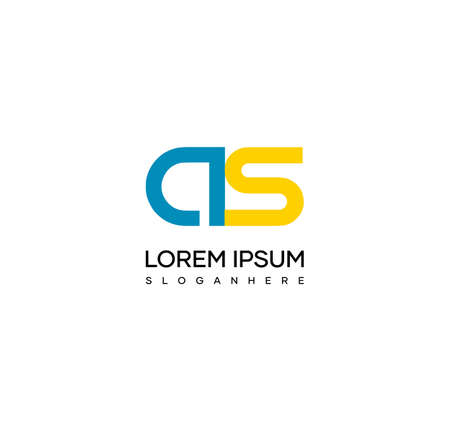 Letter AS alphabet logo design vector. The initials of the letter A and S logo design in a minimal style are suitable for an abbreviated name logo.