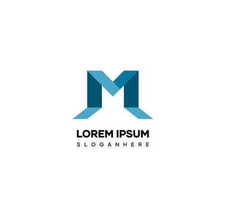 Letter M logo design in modern 3d style. Matching logos for names with the letter M prefix. Illusztráció