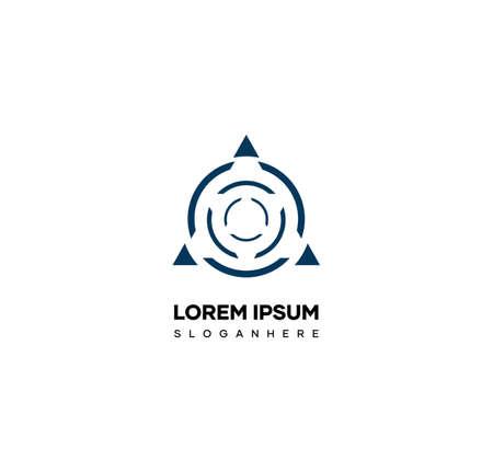 The symbolic logo design resembles the letter O, the initial logo design is from the letter O with aesthetic shapes Illusztráció
