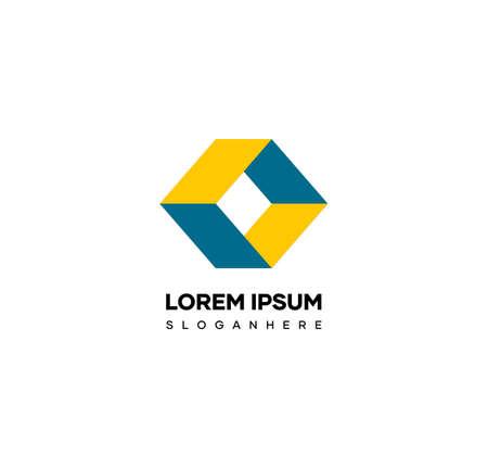 Cube letter O logo. A cube logo design that forms the letter O. Suitable logo for names with the letter O prefix Illusztráció