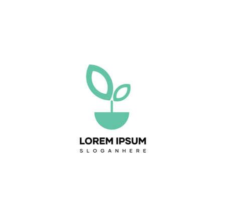 Agriculture plant logo design. Nature logo design vector, green leaf vector symbol