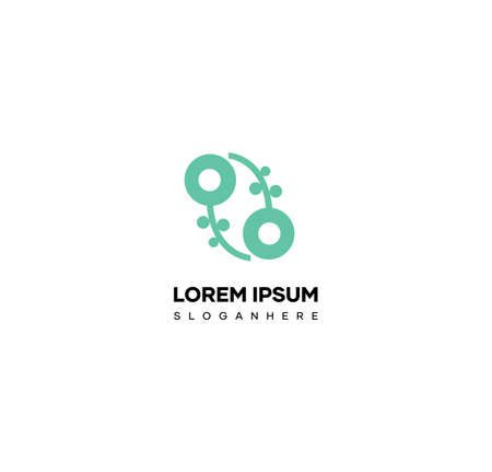 Agriculture plant logo design vector. Green nature logo design vector Illusztráció