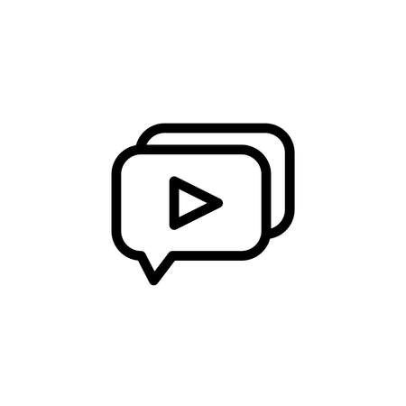Video comment icon. Music and video multimedia icons. Vector