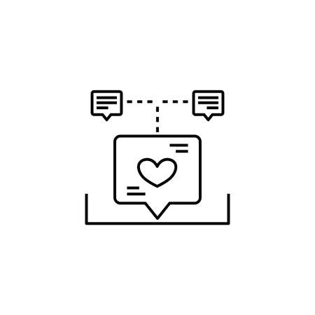 Love chat icon. Icons for messaging, chat and communication. Vector