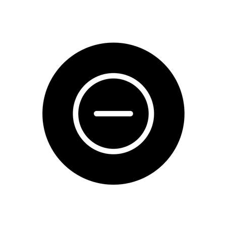 Block icon. Blocked sign symbol in black round style. Vector