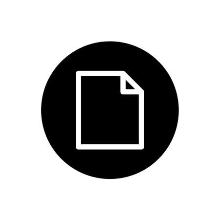 File icon. Paper sign symbol in black round style. Vector