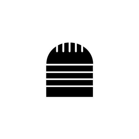 Burger glyph icon. Cafe and restaurant icon in black solid style. Vector