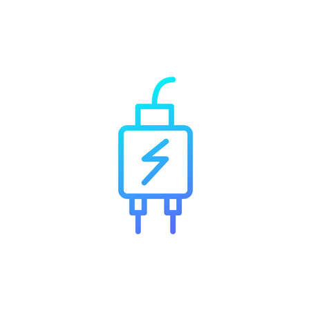 Charger icon with blue gradient style
