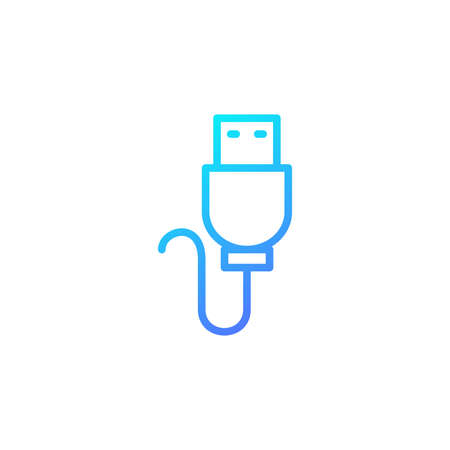 USB cable icon with blue gradient style