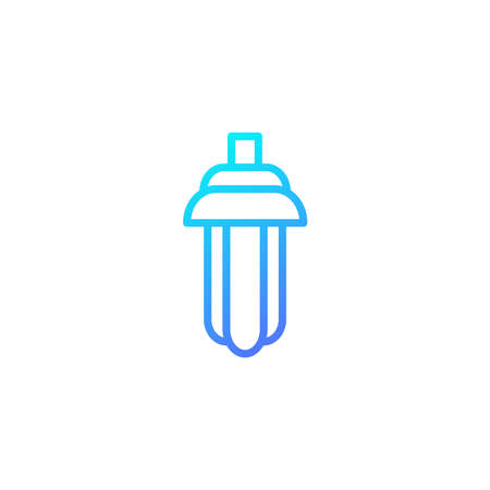 Neon light icon with blue gradient style