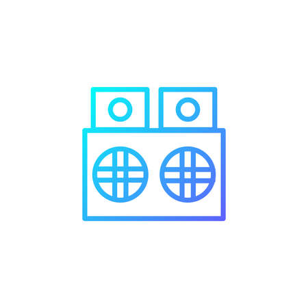 Speaker icon with blue gradient style Illustration