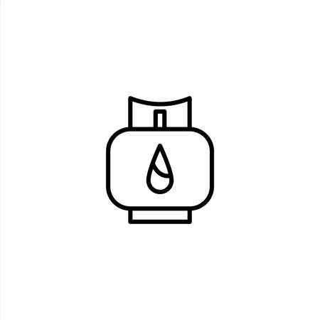Gas cylinder icon with line style