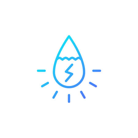 Hydropower icon with gradient blue color style