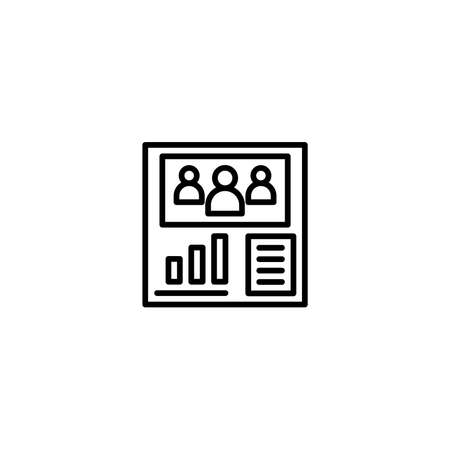Forum and group dashboard illustration icons with line style. Vector Illustration