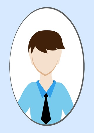 gender identity: Male avatar or pictogram for social networks. Modern flat colorful style. Vector illustration