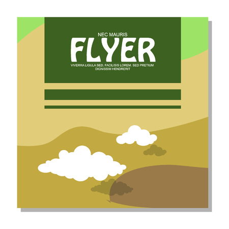 rocky: Flyers with the image of rocky terrain and forests. It can be used as an invitation to the camp. Vector illustration Illustration