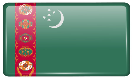 northern light: Flags of Turkish Northern Cyprus in the form of a magnet on refrigerator with reflections light. Vector illustration