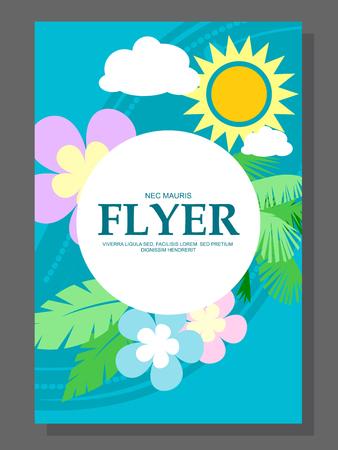 hanging flowers: Spring sale concept hanging flowers, roll-up banner design, advertising. Vector illustration