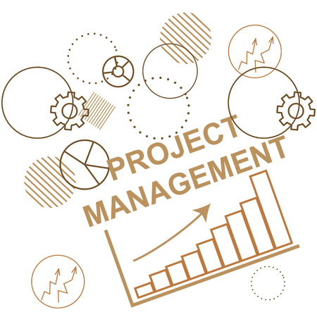 Background to the project management, business planning process. Abstraction. Vector illustration Illustration