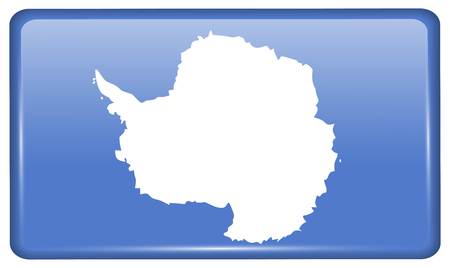 antarctica: Flags of Antarctica in the form of a magnet on refrigerator with reflections light. Vector illustration Illustration