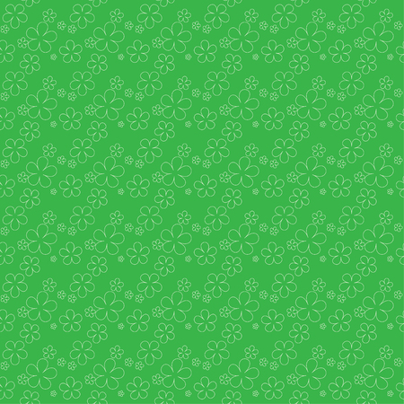 patrik day: Clover leaves background. St. Patricks day background. Seamless pattern. Vector illustration