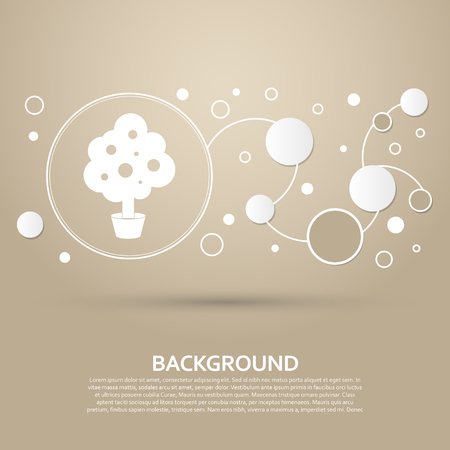 tree Icon on a brown background with elegant style and modern design infographic. Vector illustration Illustration