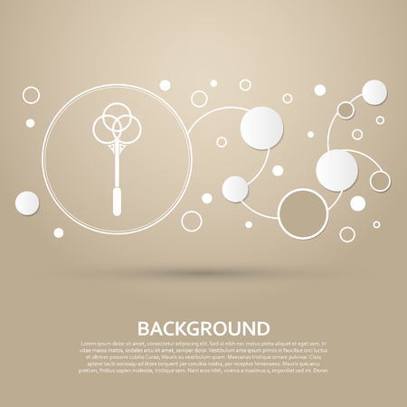 Knockout for carpets icon on a brown background with elegant style and modern design infographic. Vector illustration Vettoriali