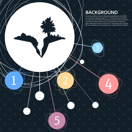 Earth crack, split in earth icon with the background to the point and with infographic style. Vector illustration Illustration