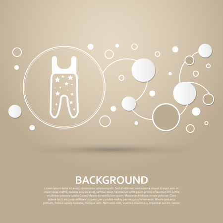 Baby pantyhose icon on a brown background with elegant style and modern design infographic. Vector illustration