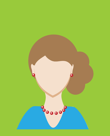 Female avatar or pictogram for social networks. Modern flat colorful style. illustration