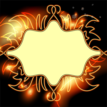 Bright background for advertising and text with fiery effects. illustration Stock Photo