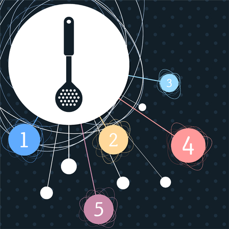 Cooking Icons with the background to the point and with infographic style. illustration