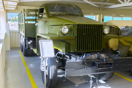 KIEV, UKRAINE - March 25, 2016: vintage car at the Automobile Exhibition in Mezhgore Ukraine