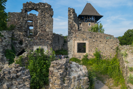 the thick walls of the mighty defensive fortress of the Nevytsky castle were destroyed by Uzhgorod. Ukraine