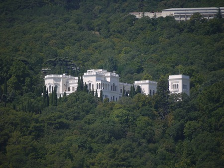 Livadia Palace surrounded by forests in the Crimean mountains