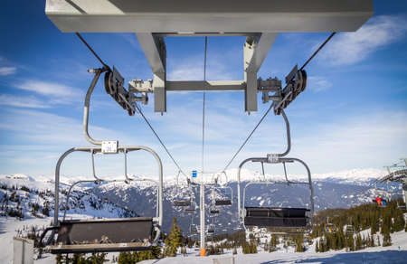 Chairlift at the top of Whistler Mountain.