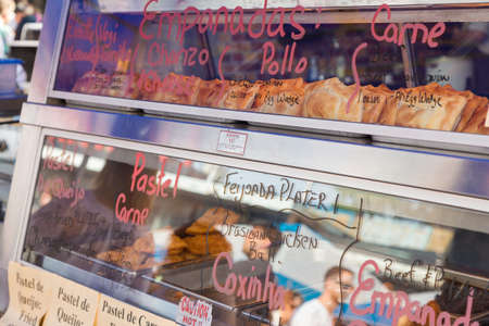 A Latin American food stand in Kensington market in Toronto. Reklamní fotografie