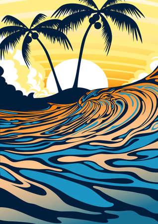 Surf beach at sunrise