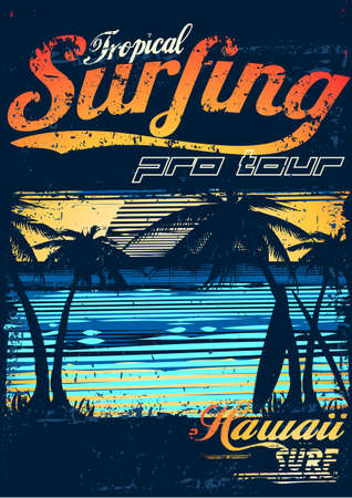 surfing wave: Tropical Surfing