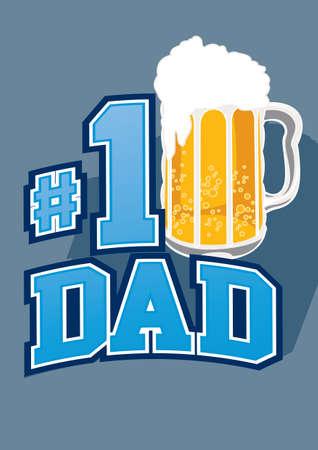 beer stein: Beer No 1 dad Illustration