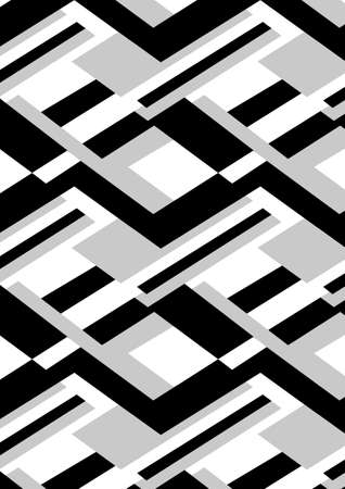 masculine: Block black and white repeat pattern