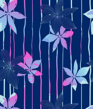 azul marino: Flores azules