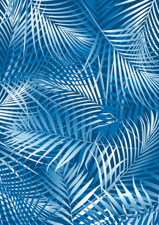 Blue palm leaves Иллюстрация