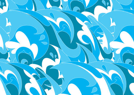 blue waves: Onde blu Vettoriali