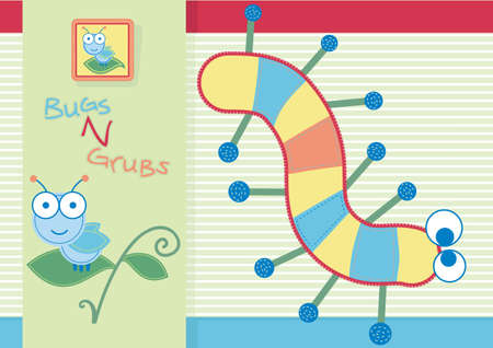 Bugs and grubs  Vector