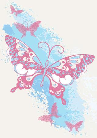 butterfly stroke: Butterfly brush stroke