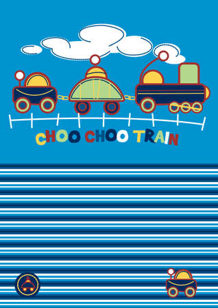 sleepwear: Choo Choo Train  Illustration